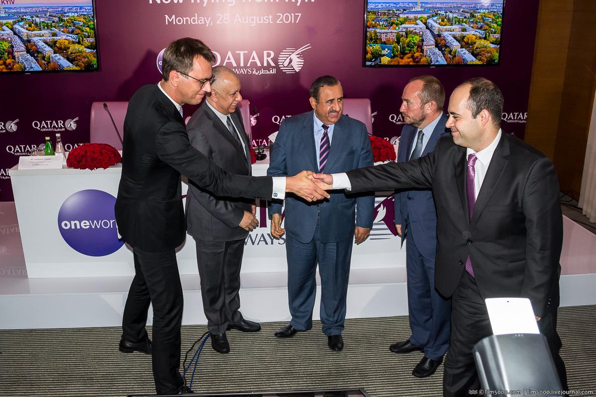 Qatar Airways открыла рейсы в Киев!