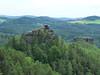 Jetřichovické stěny, výhled z Vilemíniny vyhlídky zpět na Mariinu vyhlídku, foto: Petr Nejedlý