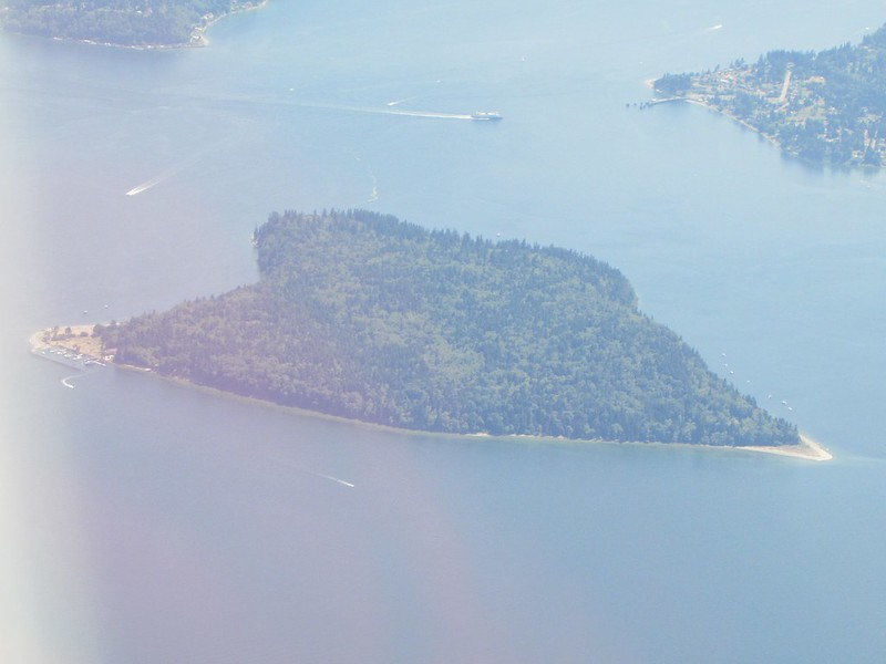 One of the islands around Seattle