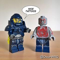 #LEGO_Galaxy_Patrol #LEGO #Drax #Tattoos #Marvel