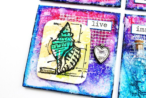 Meihsia Liu Simply Paper Crafts Mixed Media Mini Canvas Nautical Simon Says Stamp Tim Holtz 5
