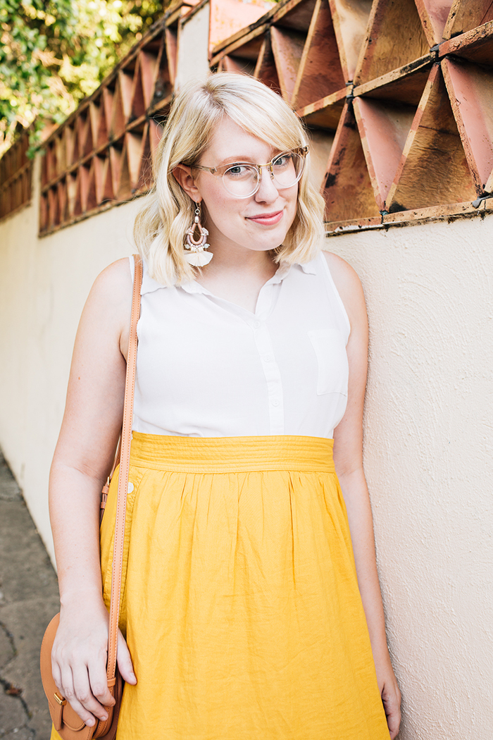 austin fashion blogger writes like a girl madewell yellow midi skirt14