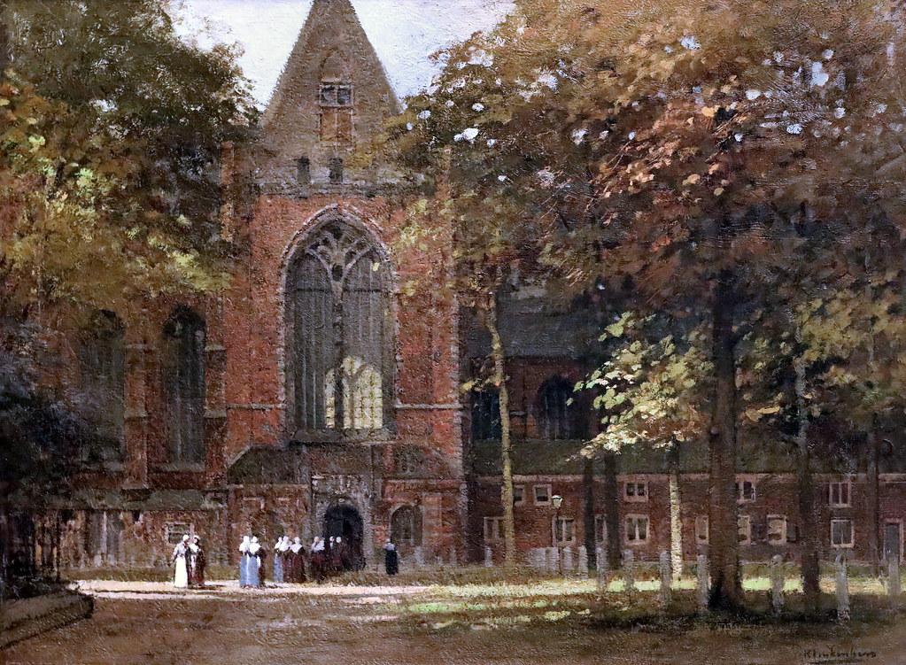 IMG_1808 Johan Christian Klinkenberg.  1852-1924  Den Haag.  View of  Grote Kerkplein in Dordrecht.  Dordrecht Museum