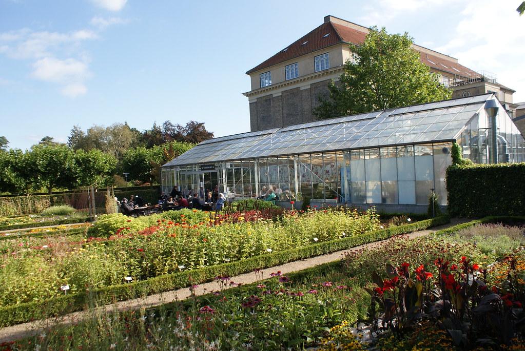 Café sous serre du jardin botanique de Frederiksberg (Copenhague).
