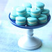Macarons with Orange Cream Cheese Filling and Blueberry Coulis