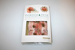 01 - Goat cheese wrapped in bacon - Package front / Ziegenkäse im Baconmantel - Packung vorne