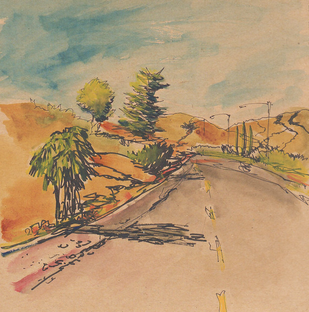 Sketch from the road