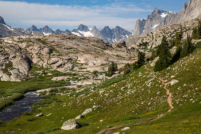 Leaving Titcomb Basin