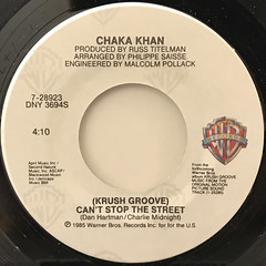 CHAKA KHAN:CAN'T STOP THE STREET(LABEL SIDE-A)