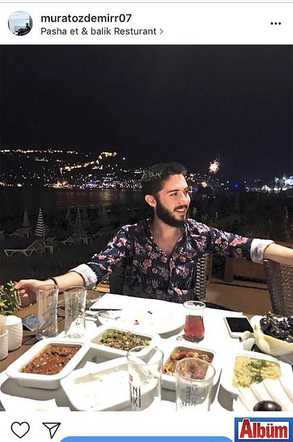 Murat Özdemir, Pasha Et & Balık Restoran'da Alanya manzarasına karşı keyifli bir akşam geçirdi.