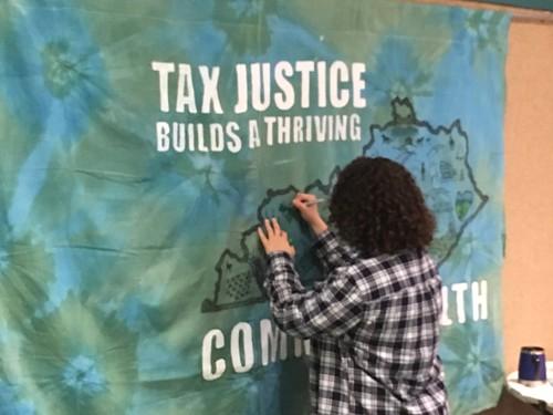 Lauren Tax Justice Banner