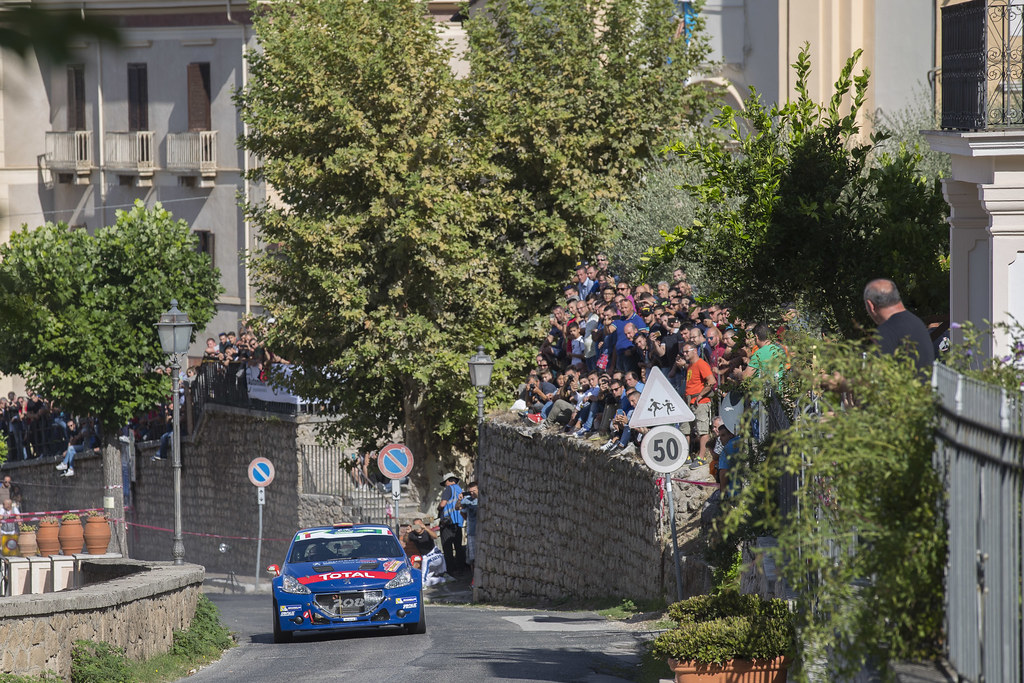 07 LOPEZ Jose Maria (ESP) ROZADA Borja (ESP) Peugeot 208 T 16 action during the 2017 European Rally Championship ERC Rally di Roma Capitale,  from september 15 to 17 , at Fiuggi, Italia - Photo Gregory Lenormand / DPPI