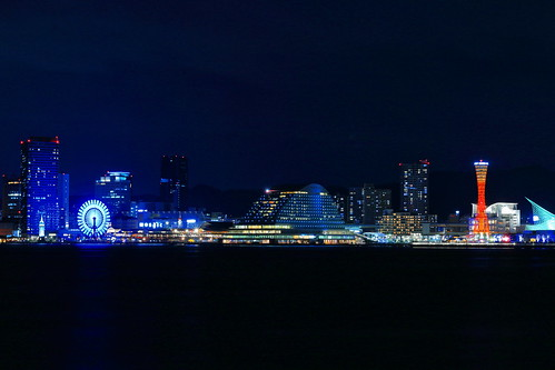 KOBE PORT TOWER & MOSAIC night view