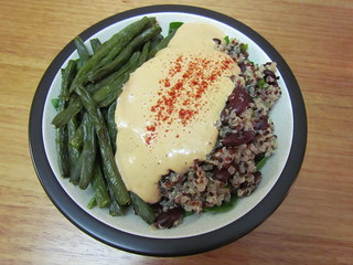 Red Beans and Quinoa with Chipotle Queso