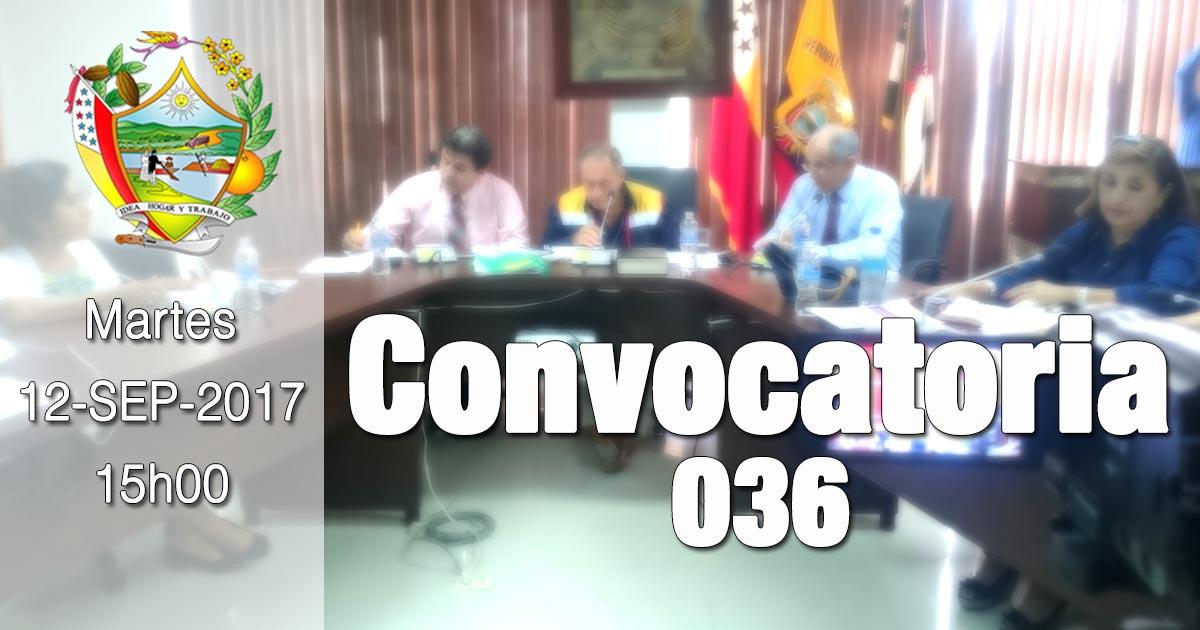 Convocatoria 036