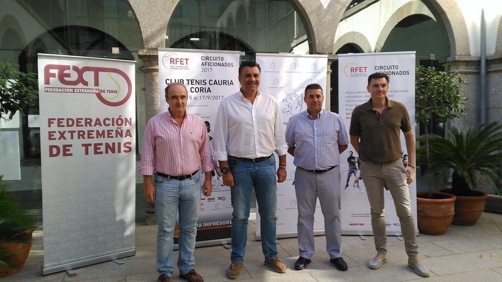 La Ciudad de Coria acoge el Torneo del Circuito de Aficionados de la Real Federación Española de Tenis