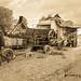 vintage threshing