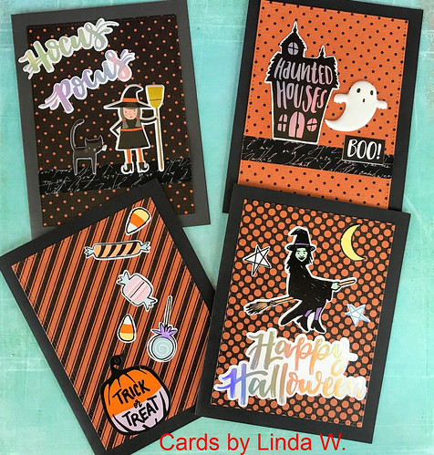 Halloween cards set 4
