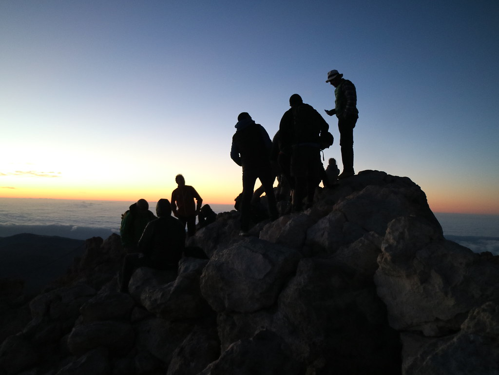 Dawn at mount Teide