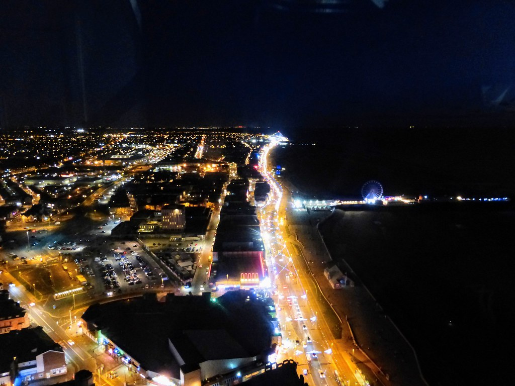 Blackpool illuminations from the top of the Tower