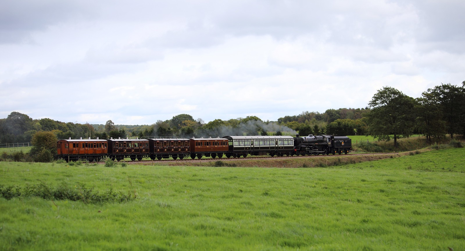 Camelot train on the Bluebell railway