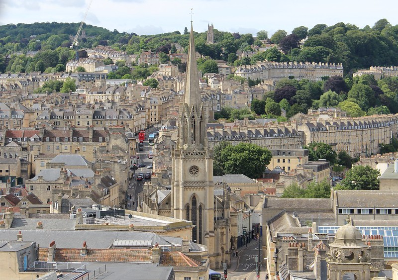 Bath, view from Bath Abbey