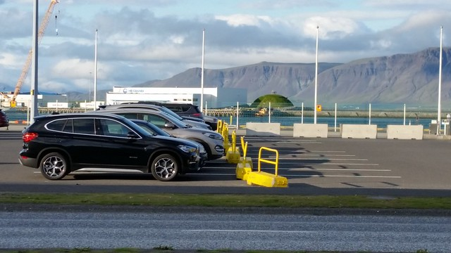 Reykjavik Harbor Green Hill