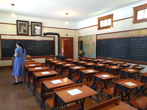 Schoolroom at Burnaby Village Museum