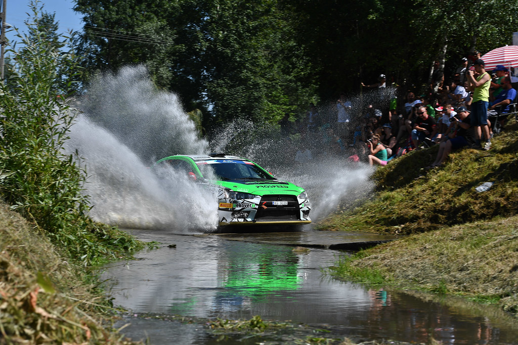 26 REMENNIK Sergei (RUS) ROZIN Mark (RUS) Mitsubishi Lancer Evo X action during the 2017 European Rally Championship Rally Rzeszowski in Poland from August 4 to 6 - Photo Wilfried Marcon / DPPI