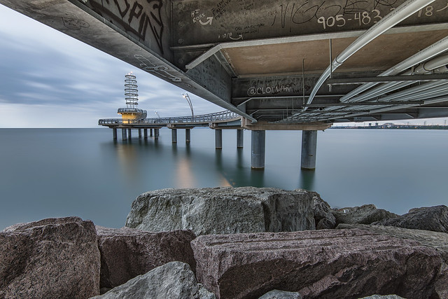 Below the Brant Street Pier, Burlington Ontario