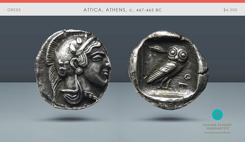 ATTICA, Athens silver drachm