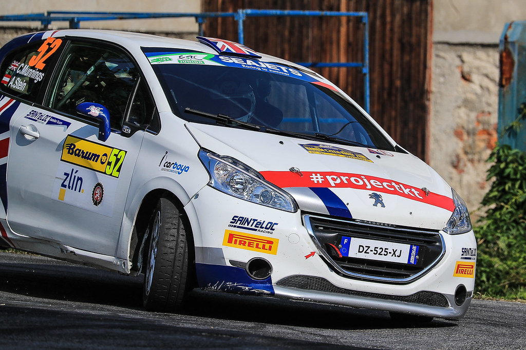 52 MUNNINGS Catie (GBR) STEIN Anne Katharina (AUT) Peugeot 208 R2 action during the 2017 European Rally Championship ERC Barum rally,  from August 25 to 27, at Zlin, Czech Republic - Photo Jorge Cunha / DPPI