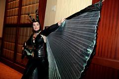 Maleficent cosplayer