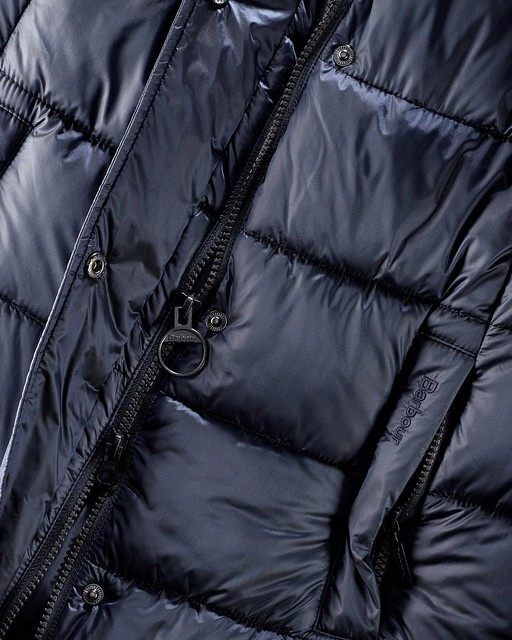 Barbour - Clyde Long downcoat detail