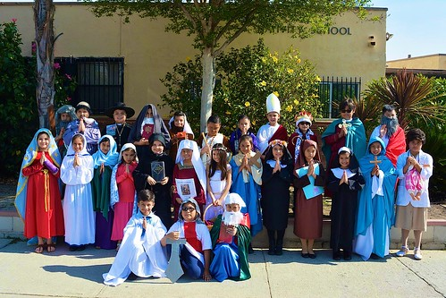 The Nativity School Saints. Students dressed up as different saints at the school and learned about these Saints in the process.