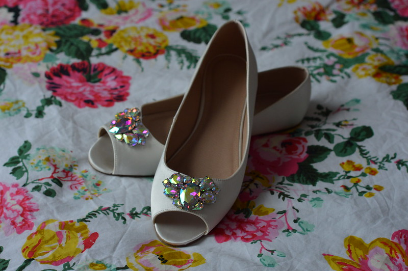 This is a picture of my flat bridal shoes from asos