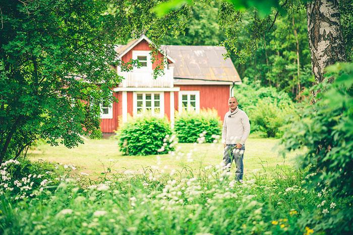 David Appelgren vid huset