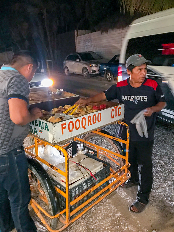 Bakery vendor in Tulum, Mexico
