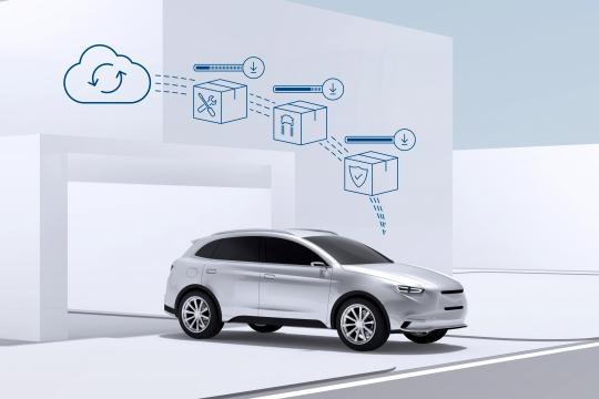 1152554  Bosch 新聞照片-雲端軟體更新的特色就是安全、快速、簡單