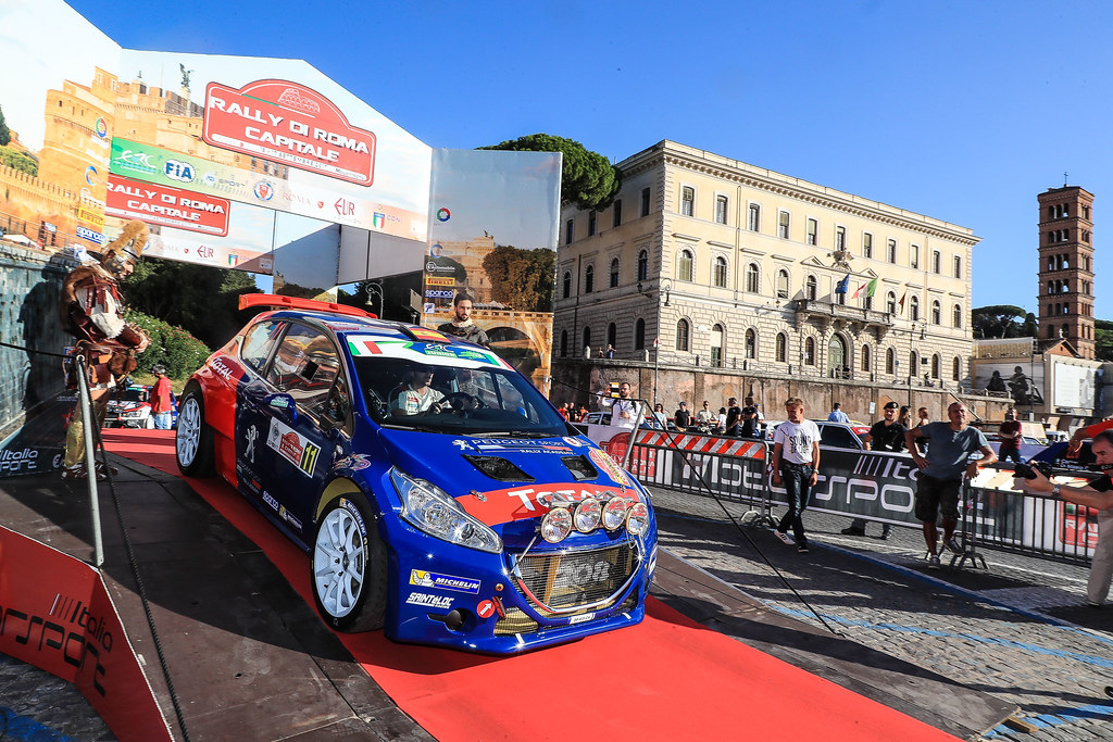 11 SUAREZ Jose Antonio (ESP) CARRERA ESTEVEZ Candido (ESP) Peugeot 208 T 16 start during the 2017 European Rally Championship ERC Rally di Roma Capitale,  from september 15 to 17 , at Fiuggi, Italia - Photo Jorge Cunha / DPPI