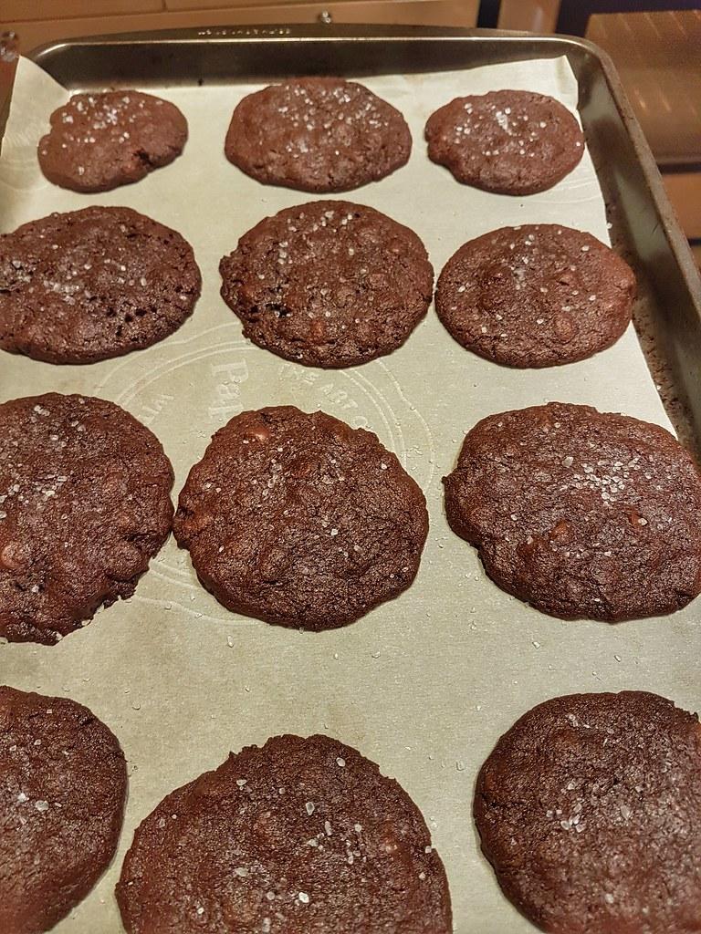Double chocolate sea salt cookies pinterest