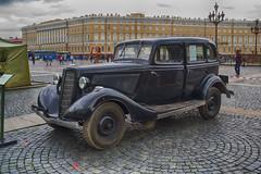 "Soviet automobile GAZ-M1 'Emka', 1939-1943 Советский автомобиль ГАЗ-М1 ""Эмка"""