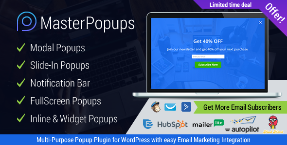 Master Popups v1.3.4 – Popup Plugin for Lead Generation