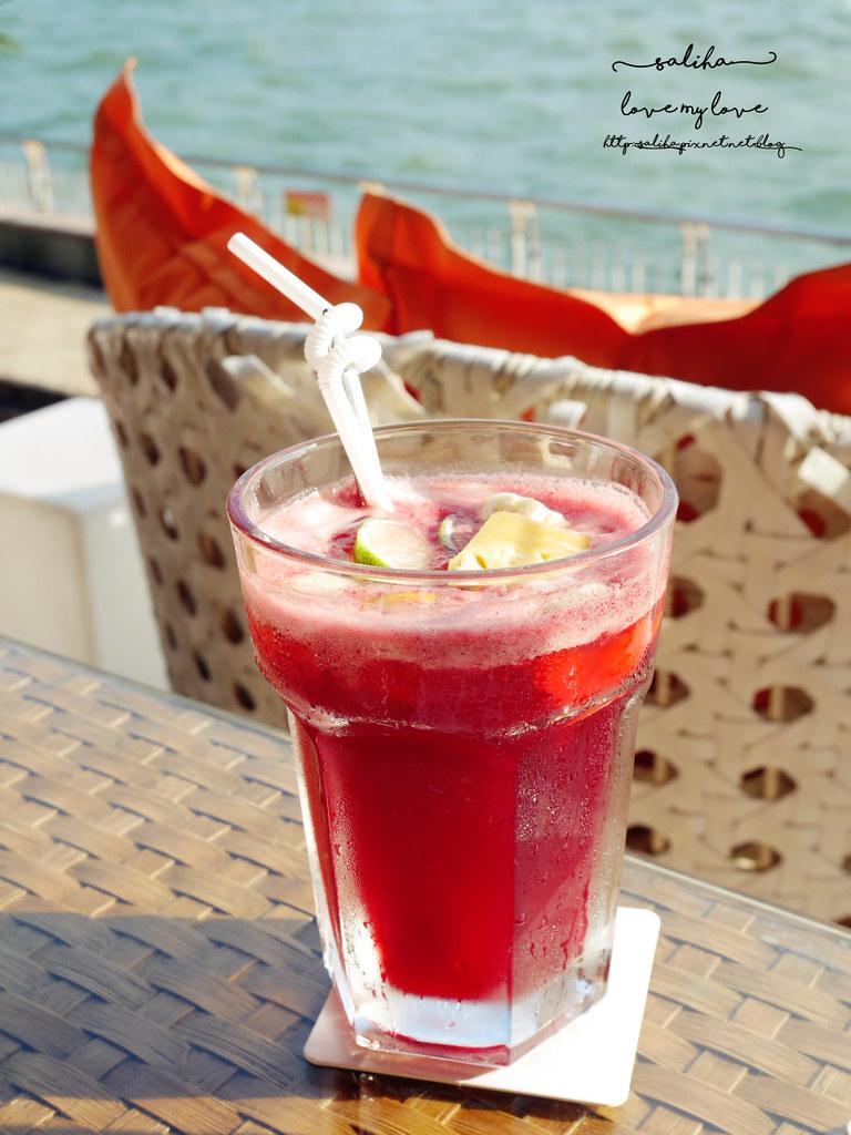 淡水老街景觀餐廳推薦榕堤水灣餐廳下午茶甜點咖啡 (1)