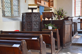 pulpit and roodscreen