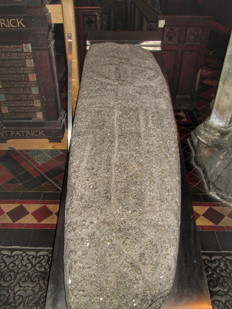 St Patricks Cathedral Dublin cross stone