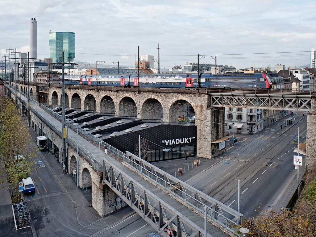 Viaducto en Zurich: Aprovechamiento de la ciudad