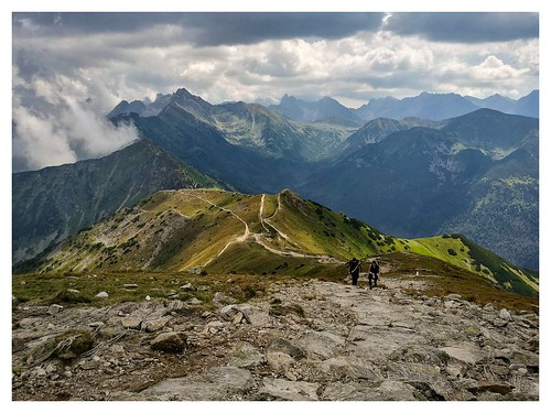 huawei p9 poland mountains hiking summer rocks sky clouds hikers trail tatry tatramountains