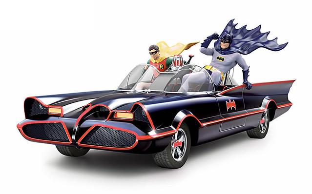 傳奇拍檔出動!經典1966 電視版《蝙蝠俠》聲光效果蝙蝠車 BATMAN Classic TV Series BATMOBILE Sculpture