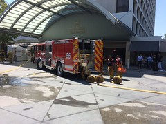 High Rise Fire Sends Two to Hospital